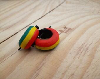 Small Rasta Coconut Earrings_CA4104887246_Hippie Rasta EARRINGS_Gift Ideas