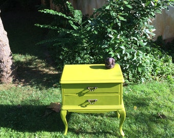 Bedside table - chest of drawers. Vintage