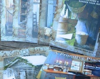 Idea Books, Pattern Books, A Simple Life, A Primitive Place, Early American Idea Books,A Simple Life Magazine Lot