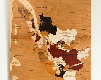 Marquetry, the wines of Bordeaux