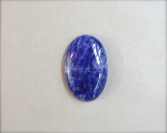 Sodalite cabochon. Navy blue gemstone cabochon.