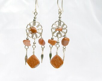 Handmade Goldstone Earrings