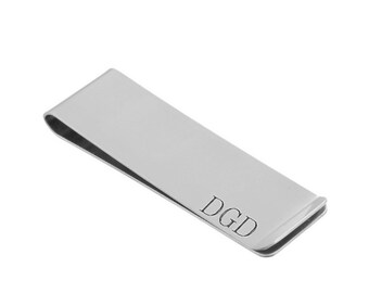 Stainless Steel  Money Clip - Personalized Money Clip - Father's Day Gift - Grandfather - Groomsmen - Engraved Money Clip
