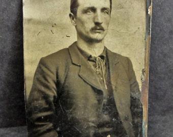 """Antique Tintype Photograph 3.5"""" x 2.5"""""""