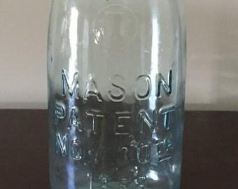1858 Mason Jar With Lid