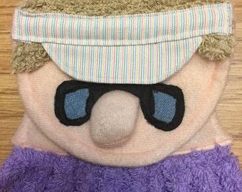 Golfer Towel Original Linda's Critters golfer on terry towel