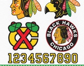 Chicago Blackhawks Hockey Logo, SVG, dxf, eps, pdf, Vector Digital files for Silhouette Studio, Cricut Design Space Cutting Machines SVG-71