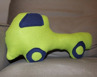 Stuffed Fleece Pickup Truck - Olive Green/Navy