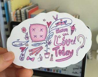 Love Cloud Illustration Stickers (3pcs)