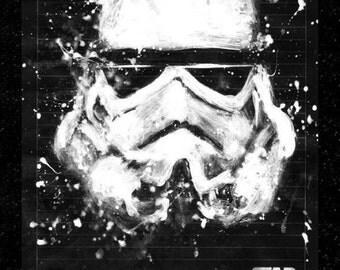 Stormtrooper Acrilic on Paper