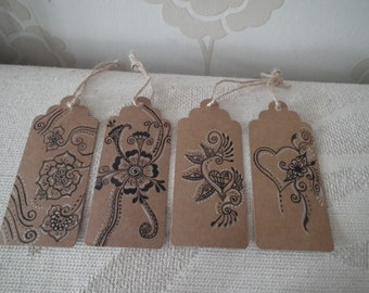 4 Henna Inspired Gift Tags