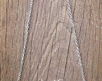 Opalite + Silver Heart Beads - Chain Necklace