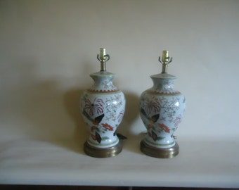 Frederick Cooper Lamp Pair Hollywood Regency