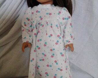"Knit Pajama Nightie for 18"" Doll   FREE SHIP"