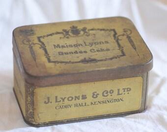 Maison Lyons Dundee cake vintage tin box