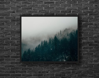 Nature Photo - Misty Forest Photo - Foggy Forest Photo - Fog - Forest Landscape Photo - Forest Print - Forest Wall Art - Forest Wall Decor
