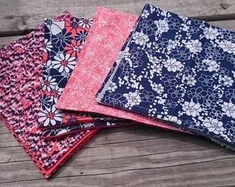 Floral Coral Cloth Napkin