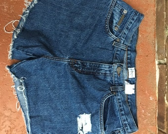 size 10 high-waisted cutoff distressed shorts
