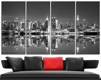 New York Canvas Wall Art Set Cityscape Wall Art New York Canvas Art Cityscape Canvas Print Cityscape Wall Decor New York Poster Skyline