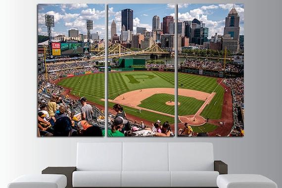 PNC Park Baseball Canvas Wall Art Multi