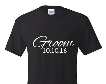 Groom T-Shirt, Groom Tshirt, Groom Gift, Groom Gift, Wedding Party Shirts, Bachelor Party Shirts, Mens Clothing