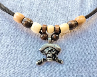 Gothic/Tribal Jolly Roger Pirate Necklace