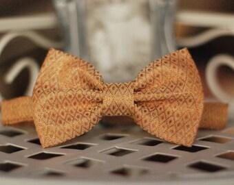 Boys bow tie Silk bow tie Birthday bow tie Wedding bow tie Baby boy bow tie Golden bow tie Baptism bow tie Page boy bowtie Family photo