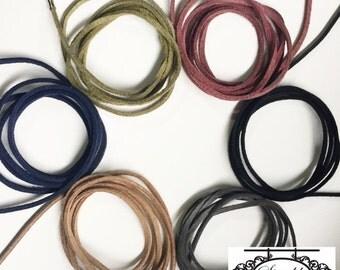 Suede Wrap Choker / Tie Choker / Suede Choker / Choker Necklace / Lariat / Leather Choker