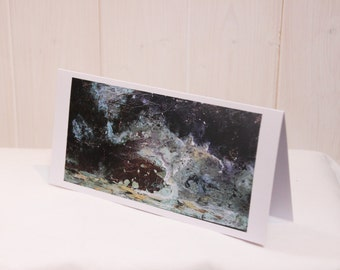 Stormy Waters: Fine Art Card of Original Copper Painting by Jessica Elleray