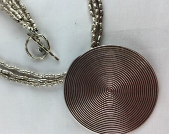 Hill Tribe Thai silver statement necklace