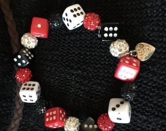Bunco Bracelet, Bunco Gift, Dice Bracelet