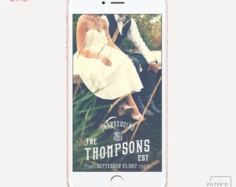Rustic Western Saloon Style Badge Snapchat Geofilter |  Personalized Name and Date  |  Custom On Demand Wedding Geo Filter