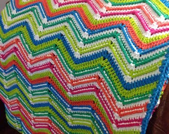 Zig-Zag Throw Afghan