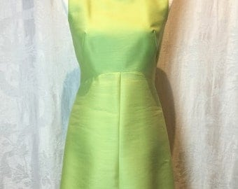 6. PECK & PECK- Lime dress With Button Detail