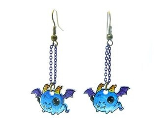 Earrings Silly Animals: Dragons