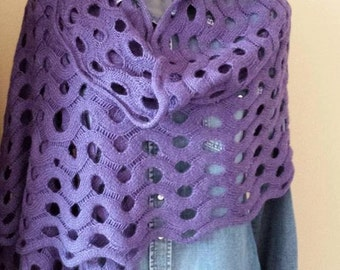 Scarf . Women knitted scarf.