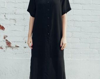 SPRING SALE 20% OFF - Vintage Oversized Sheer Maxi Dress