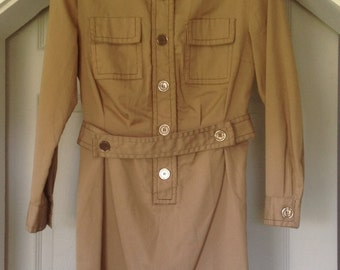 Vintage Brown Shirt Dress