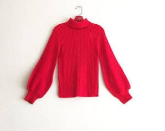 Red Balloon Sleeve Sweater