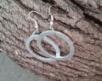 Hoop Earrings upcycled Computer parts
