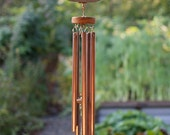 Wind Chime Large Beach Stone with Copper Chimes Windchimes