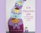 embroidered felt Matryoshka nesting doll PDF pattern