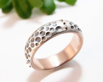 Womens Wedding Band Womens Ring Silver Wedding Band Rose Gold Wedding Band Womens Wedding Ring Silver Ring Sea Urchin Statement Ring