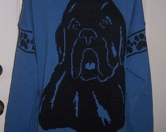 Custom Knit Newfoundland Dog Newfie Sweater ****Create your own sweater see below*****