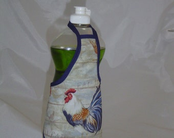 Rooster Country Decor Dish Soap Apron Bottle Cover Wrap Staffer Party Favor Lg