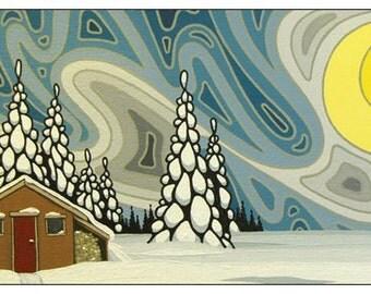 Northern Blues Original Artwork Magnet