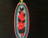 Floral 3 - hand painted found object wall art