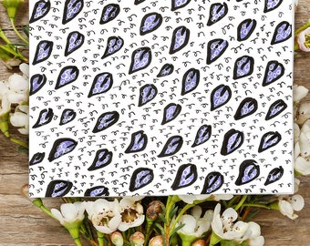 Pattern Notecards - fun and vibrant printable notecards blank inside folded card you print at home