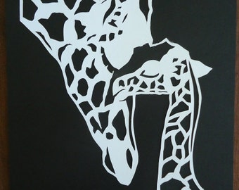 Giraffe Cutout Etsy