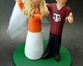 Texas Aggies A&M Football Wedding CakeTopper, Football Wedding Anniversary Gift/Cake Topper, NFL Football Wedding CakeTopper,NCAA Caketopper